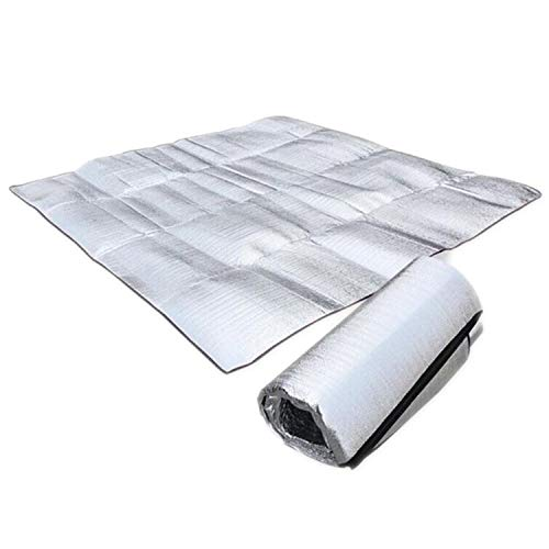 LIAN Store Campingmatte aus Aluminiumfolie, faltbar, faltbar, für Schlafen, Picknick, Strand, Matratze, wasserdicht