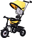 #4: R for Rabbit Tiny Toes Sportz - The Stylish Plug and Play Baby Tricycle for Kids - Baby with Rubber Wheels (Yellow)