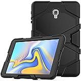 Lobwerk 3in1 Hülle für Samsung Galaxy Tab A 10.5 Zoll SM-T590 T595 Outdoor Cover mit Displayschutz + Ständer Schwarz