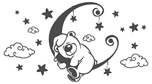 """I-love-Wandtattoo 11595 Wandtattoo """"Mond mit schlafendem Bärchen"""""""