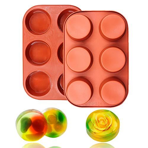 6 cavidades molde silicona redonda muffin Cupcake