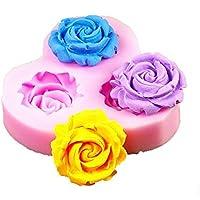 cosanter 3Fiori Mini silicone bricolage decorazione di torta fondente sugarcraft Mold