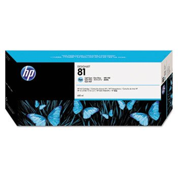 680 Ml Light (HP C4934A - NO.81 DYE Light Cyan Ink 680ML)
