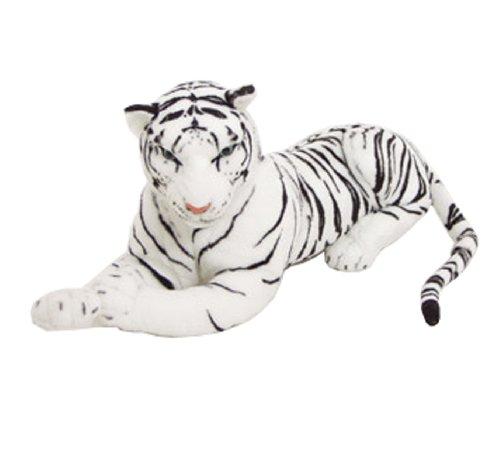 BRUBAKER Tigre di peluche - 75 cm colore bianca
