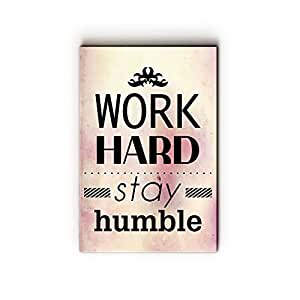 """NISH! Wooden Wall Art Painting Poster Prints with Inspirational and Motivational Quotes (MDF Wood, 8""""x12"""", UV Cured, 1 Piece)"""