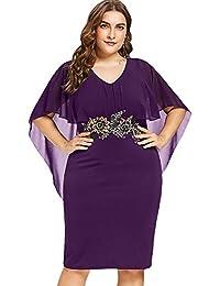 últimos diseños diversificados más nuevo mejor calificado estilo exquisito Amazon.es: vestido poliester - Morado / Vestidos / Mujer: Ropa