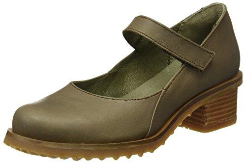 El Naturalista Damen N5100 Ibon Kentia Schuhe mit Vertikalen Streifen Grau (Plume)