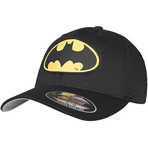 MERCHCODE Herren Batman Flexfit Cap, Blk, S/M