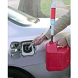 kaifrly Pump für Wasser/Kraftstoff, batteriebetrieben, elektrische Wasserpumpe, Flüssigkeitstransfer, Gasöl Sicher, batteriebetriebene Pumpen, 62 cm, rot, 1Pack