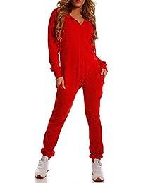 Crazy Age Damen Jumpsuit aus Samt (Nicki, Velvet) Wohlfühlen mit Style.  Elegant, Kuschelig, Weich. Overall, Ganzkörperanzug, Jogging… 352e41d8d4