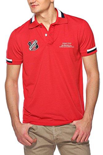 M.Conte Uomo maglietta da polo shirt manica corta Nandor rosso M