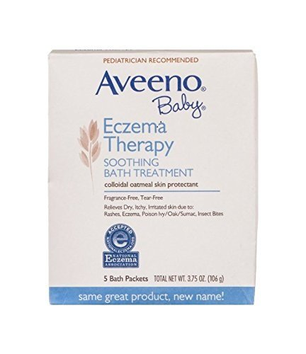 Aveeno Baby Eczema Therapy Soothing Bath Treatment, 5 Count (Pack Of 2) (Aveeno Bath)