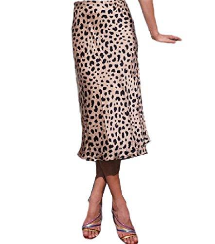Doufine Falda Sexy con Estampado de Leopardo en la Cintura para Mujer como Cuadro 44