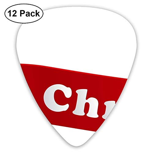 Xmas Merry Christmas Red Banners Guitar Picks - 12 pack,0.46/0.73/0.96 Mm Guitar