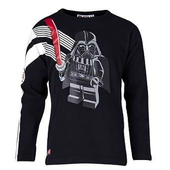 LEGO Wear Sweatshirt  Col ras du cou Manches longues Garon - Noir - Schwarz (993 DARK CHARCOAL BLACK) - FR : 4 ans (Taille fabricant : 104)