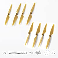 Hubsan Original Blade Propellers 2 Sets 8 pcs(4 pcs CW + 4 pcs CCW) Spare Part Replacement kit for H501S Quadcopter Yellow by Hubsan