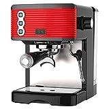 Kaffeemaschine- Dual-Temperaturregelungstechnik 1.7L großer Wassertank 360 ° Dampfknopf Abnehmbares Tablett 1450W, Schwarz