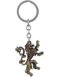 Gratitude Game Of Thrones Hear Me Roar Lannister Metallic Gold Keychain / Key Chain / Keyring / Key Ring