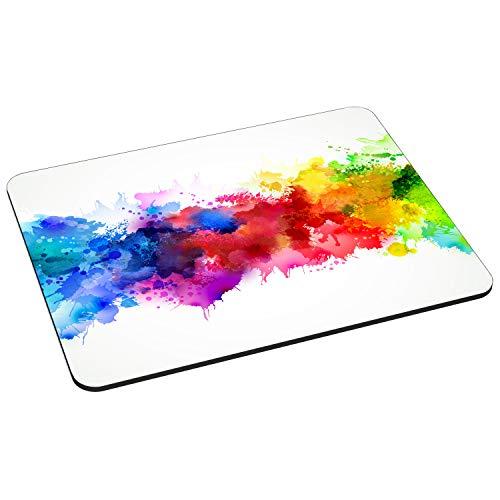 PEDEA Gaming und Office Mauspad - 220 x 180 mm -  mit vernähten Rändern und rutschfester Unterseite, color blob