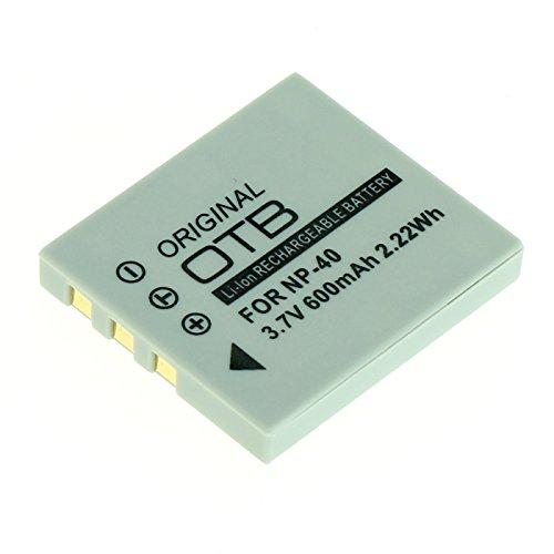 OTB Akku für Fuji NP-40 / Pentax D-LI85 / Samsung SLB-0737/0837 Li-Ion, 600 mAh Schwarz - Fuji Np 40