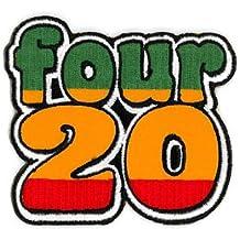 "Matt Stewart - Four 20 Rasta Colors Top Quality Patch 3.25""x3"" bordado parche Embroidered Patch"