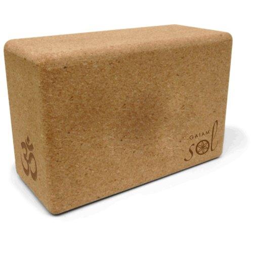 gaiam-sol-natural-cork-yoga-block
