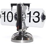 Horloge Vintage Design Rétro Classique élégant Moderne Flip Clock pour les Bureaux et Salles de Séjour par KABB (blanc)