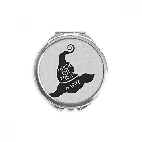 schwarze Hexenhut Spiegel Runder bewegliche Handtasche Make-up 2.6 Zoll x 2.4 Zoll x 0.3 Zoll Mehrfarbig ()