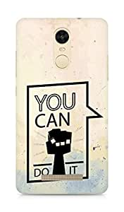 Amez You can Do It! Back Cover For Xiaomi Redmi Note 3