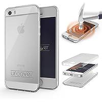 URCOVER® 360 Grad Case Cover Protettiva | Custodia Apple iPhone SE / 5 / 5s | Silicone TPU in Trasparente | Protezione Schermo Ultrasottile Back Antigraffio Screen Protector