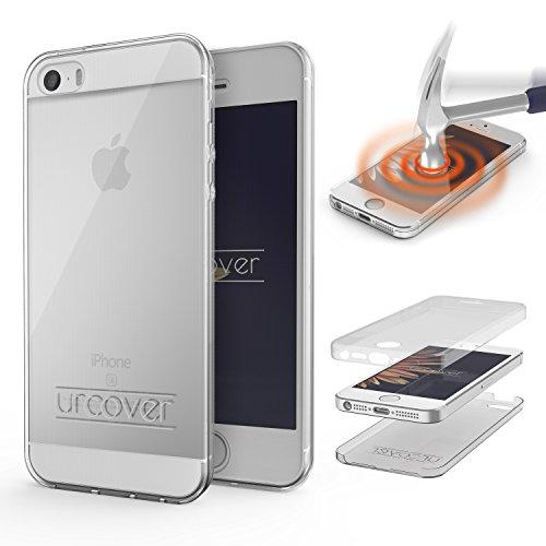 Apple iPhone 5 / 5s / SE Handyhülle von Original Urcover® in der TPU Ultra Slim 360 Grad Edition iPhone 5 / 5s / SE Schutzhülle Case Cover Etui Klar [DEUTSCHER FACHHANDEL]