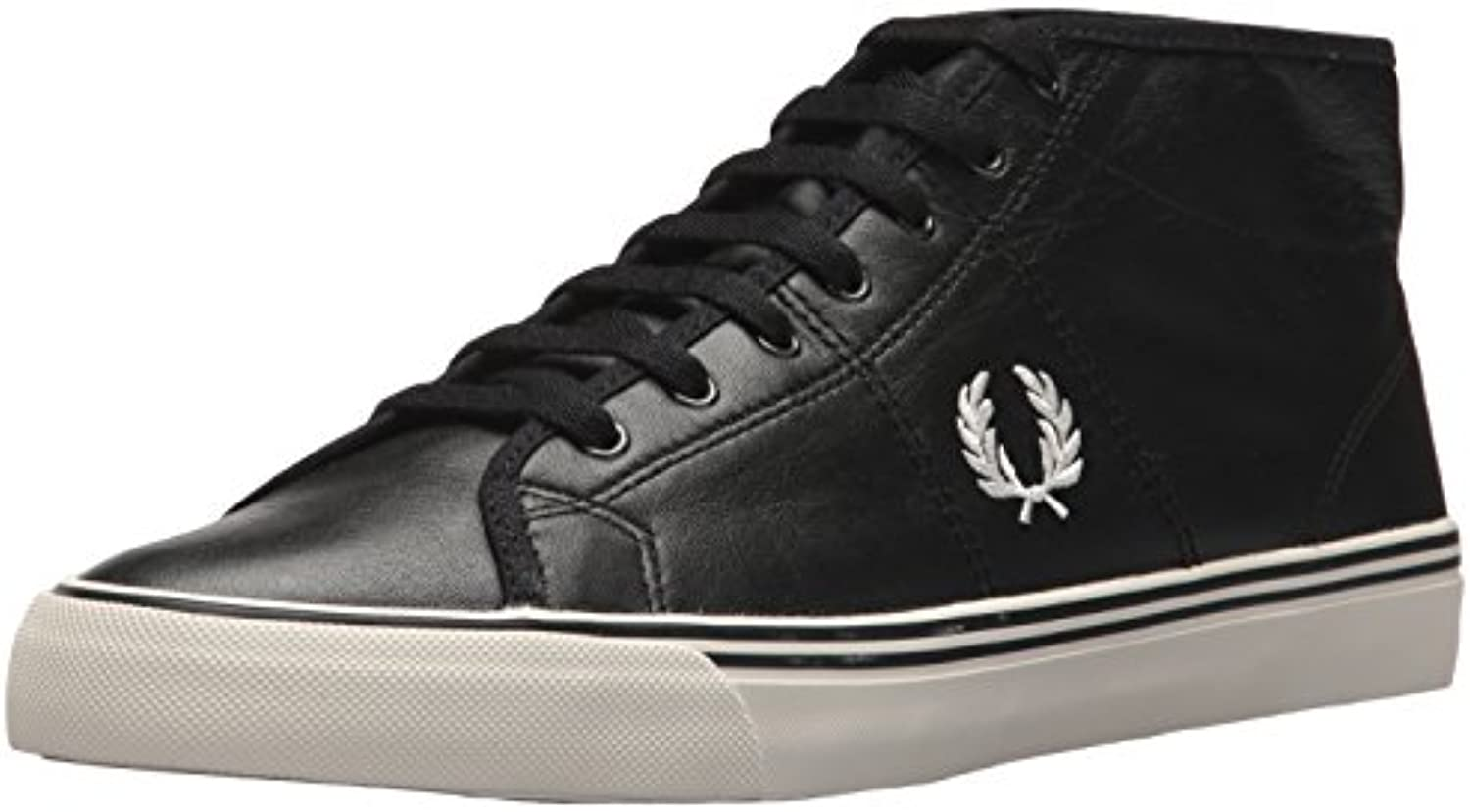 SNEAKER STIVALETTO BASSO UOMO FRED PERRY HAYDON MID LEATHER BLACK
