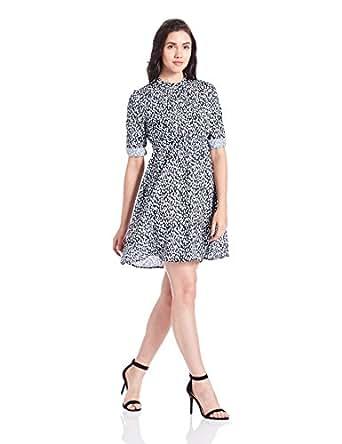 Chemistry Women's A-Line Dress (C16-1062WDSDR_Dynamic Dots_80 cm (XS))
