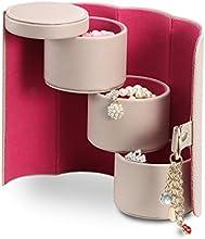 Vlando - Joyero de viaje (diseño pequeño, con compartimentos para collares y broches, regalo perfecto)