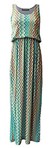 Toga Kleid Womens (Friendz Trendz-- Womens Toga Ballon gedruckt ärmelloses Maxi Kleid (ML,)