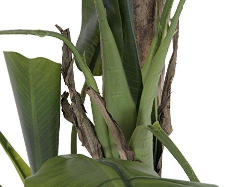 artplants – Künstlicher Bananenbaum Makani, 170 cm – Deko Tropenpflanze/Kunst Obstbaum
