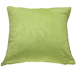 A-SZXCTOP Lint Simple Fashion Back Cushion Covers Pure Color Candy Colorful Throw Pillow Covers (Green)
