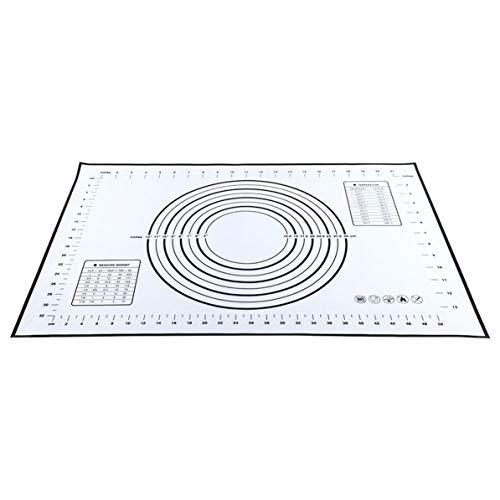WEIWEITOE Umwelt-Antihaft-Silikon-Backmatten-Pad-Blatt Super-Dickback-Rollteig-Gebäck-Kuchen-Backformen-Pad-Matte, schwarz, 40 * 60 cm (Antihaft-gebäck-matte)