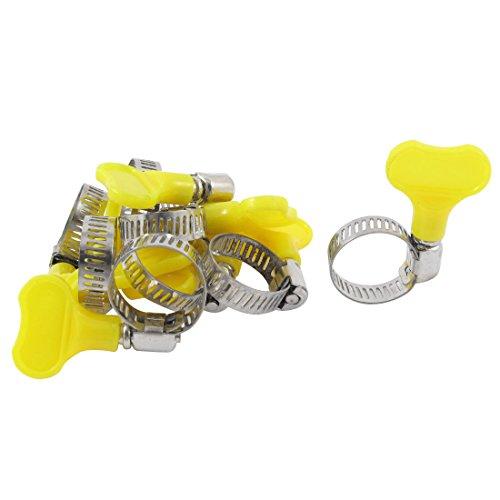 SOURCING MAP Réglable de 13 à 19 mm-Acier inoxydable-Lot de 10 colliers à vis standard