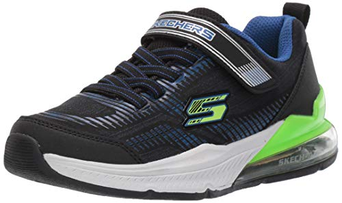 Skechers Boys' Skech-AIR Blast TALLIX Trainers, Black (Black Mesh/Black Synthetic/Blue & Lime Trim Bblm), 4 (37 EU)