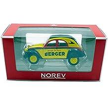 Norev–Citroen 2CV azlp 1959Berger ciclista veicolo in miniatura, 310602, Giallo/Nero/Rosso, Scala 1/64