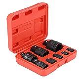 Llaves de Vaso Adaptador, 8x Adaptadores de Enchufe Convertidor Reductor de Impacto Profesional 1'a 3/4', 3/4 'a 1/2', 1/2 'a 3/8', 3/8 'a 1/4', 1/4 'a 3/8', 3/8 'a 1/2', 1/2 'a 3/4', 3/4 'a 1'