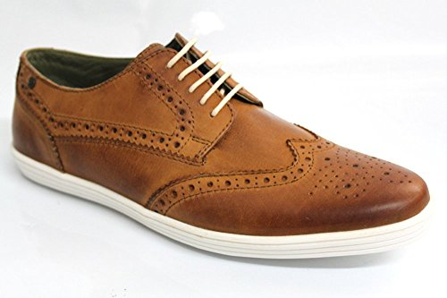 Base London Mens Perform Leather Shoes Bronzage
