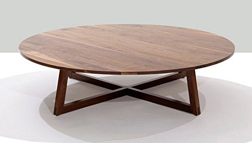 Altavista Aspara Round Center Table (Walnut Finish)