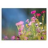 ge Bildet® hochwertiges Leinwandbild - Bird in nature - 40 x 30 cm einteilig | Wanddeko Wandbild Wandbilder Wohnzimmer deko Bild | 3025BII
