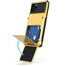 """Genieforce® Premium Tough Combat Stoßfeste 360˚ All-Round Outdoor Schutzhülle mit integriertem Kartenhalter für Apple iPhone 11 Pro Max (6.5"""" Zoll) – GELB Yellow"""