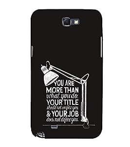 EPICCASE attitude Mobile Back Case Cover For Samsung Galaxy Note 2 (Designer Case)