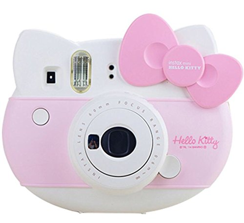 "Fuji Fujifilm Instax Mini ""Hello Kitty"" Instant Camera Set! with Instax Mini Film, Twin Pack + Hello Kitty Film + Shoulder Strap + Stickers + withC Microfiber Cleaning Cloth"