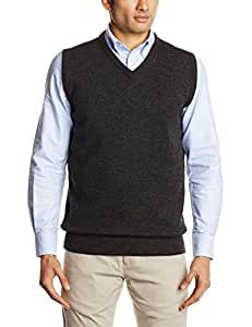 2014 Callaway V-Neck Golf Sweater Vest Wool Tank Top Mens Slipover Charcoal Small