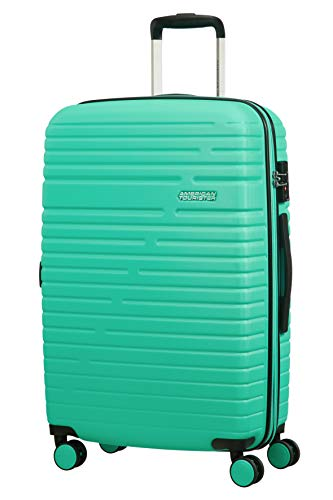 American Tourister Aero Racer Spinner 68 Expandable - 3.6 Kg Bagaglio a Mano 75.5 Liters, Verde (Mint)